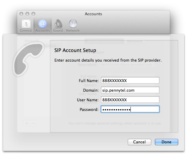 My Tech Notes: Telephone: Free SIP client (softphone) for Mac OS X