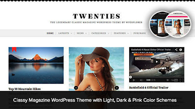 Twenties Wordpress Theme Free Download