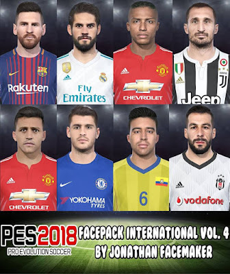 PES 2018 Facepack International v4 by Jonathan Facemaker