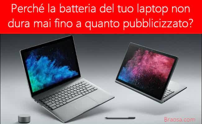 Perché la batteria del tuo laptop non dura mai fino a quando pubblicizzato