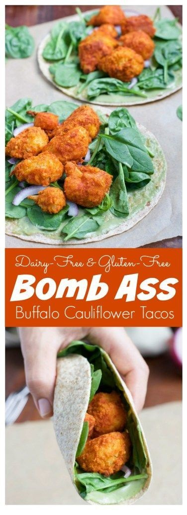 Bomb Ass Buffalo Cauliflower Tacos