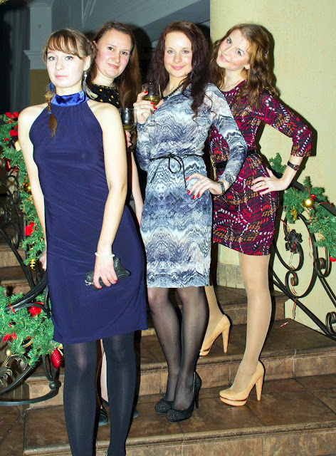 Fashion Tights Skirt Dress Heels Candid Amateur In