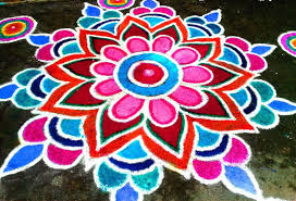 Floor Rangoli Designs For Diwali