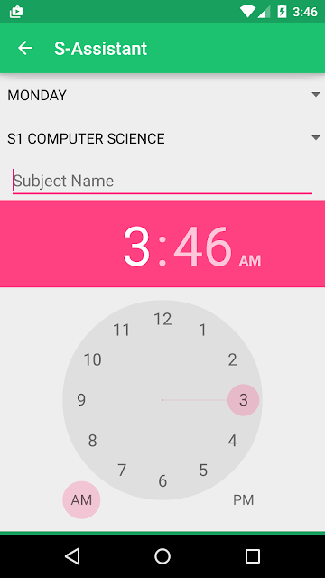 Make New Schedule Activity