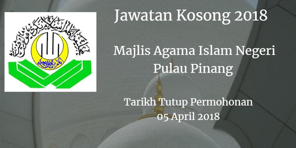 Jawatan Kosong MAINPP 05 April 2018