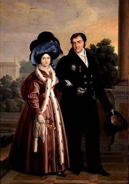 Maria Christina and Ferdinand VII by Luis de la Cruz y Rios, 1832