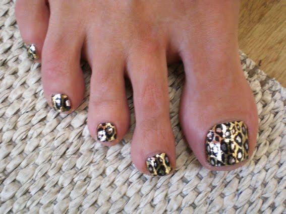 Leopard Toe Nail Designs