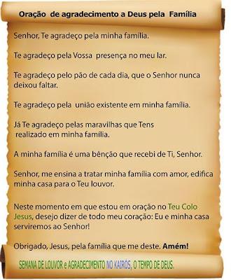 Frases De Agradecimento A Deus Pela Minha Familia