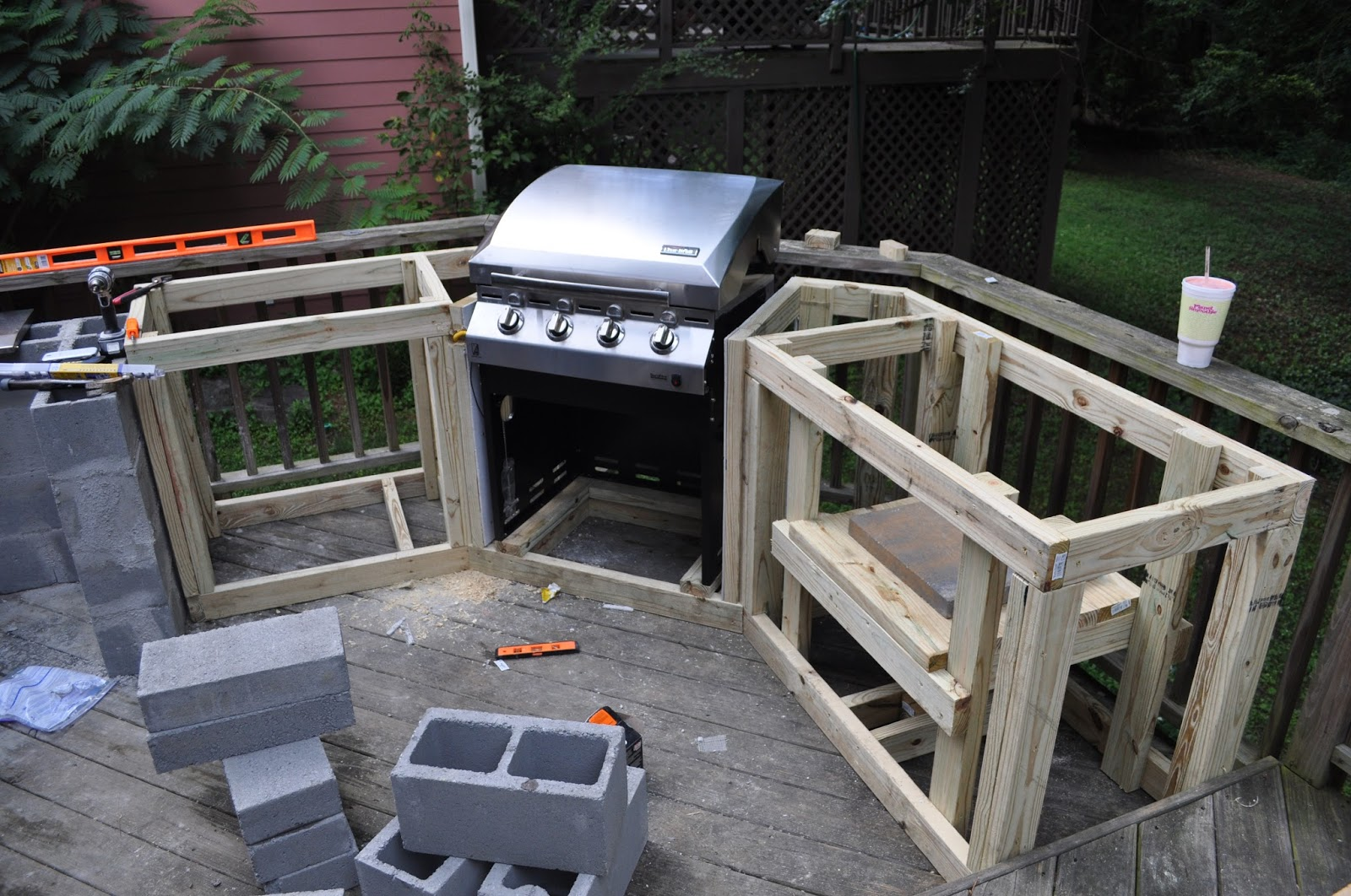The Cow Spot: Outdoor Kitchen Part 1 on Diy Patio Grill Island id=69781