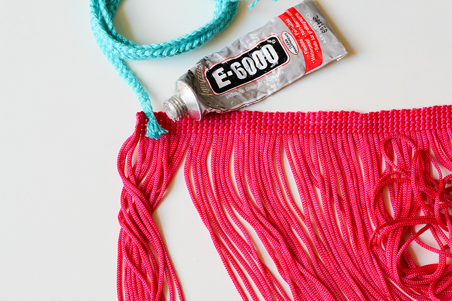 how to put tassels on a knit braid