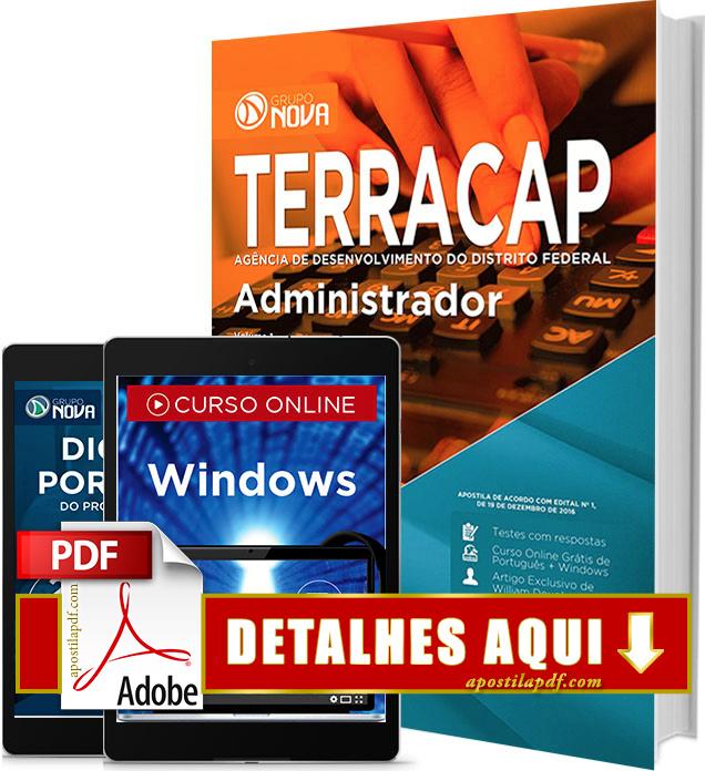 Apostila TERRACAP 2017 PDF Impressa Administrador