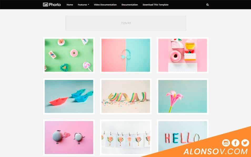 Phorto: Una plantilla blogger simple y de calidad