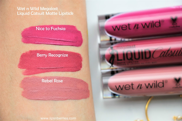 wet n wild megalast liquid catsuit matte lipstick swatches