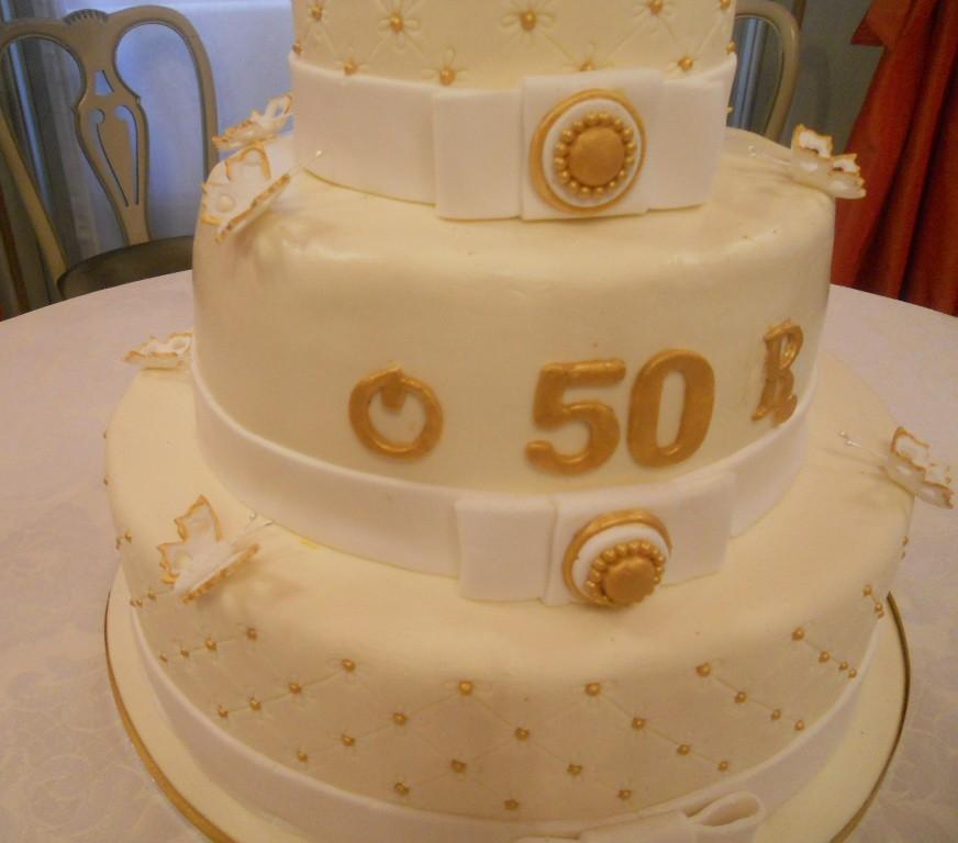 Ben noto Profumo di zucchero - Sweets by Sonia: Torta anniversario - 50  GA56
