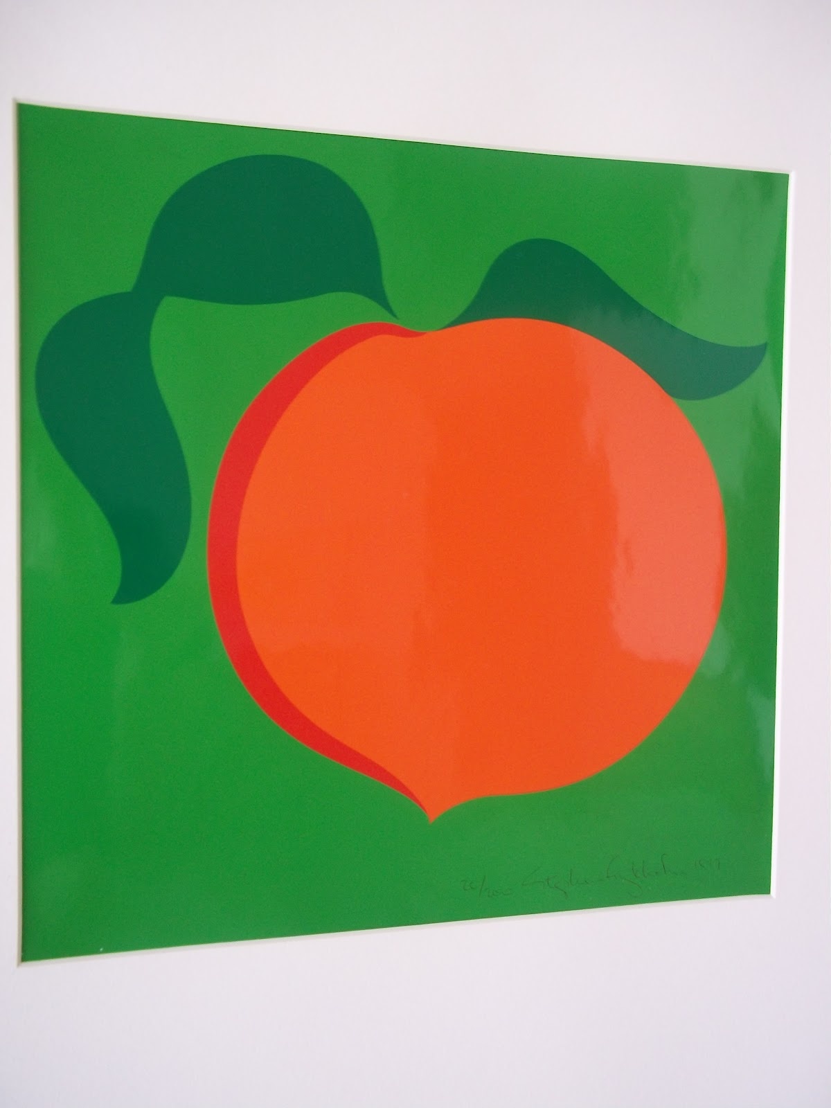 Modern20 1970 S Mid Century Modern Pop Art Screen Print