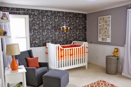 Cuarto de bebé paredes grises