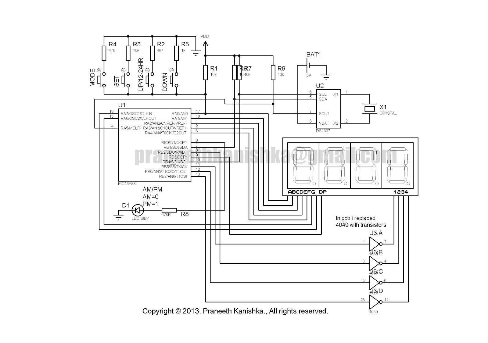 small resolution of ds1307 real time clock circuit circuit diagram