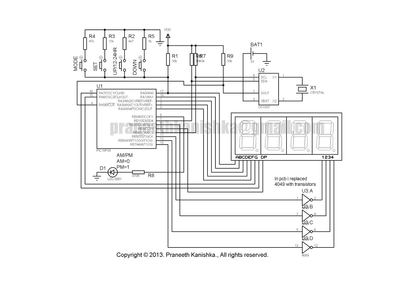 ds1307 real time clock circuit circuit diagram [ 1600 x 1125 Pixel ]