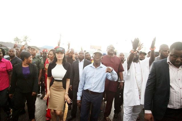 Edo Election: Oshiomhole, wife in victory dance