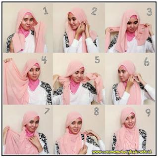 tutorial hijab paris segi empat