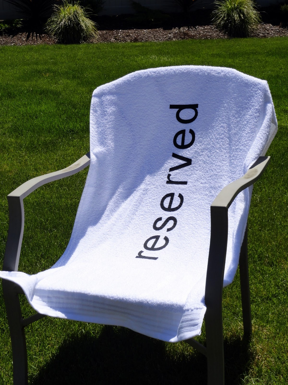 Reserved beach towel Rachel Teodoro