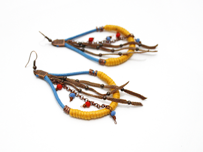 Waxed cotton cord jewelry - Bijoux in cordino cerato