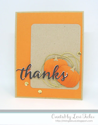 Fall Thanks card-designed by Lori Tecler/Inking Aloud-dies from SugarPea Designs
