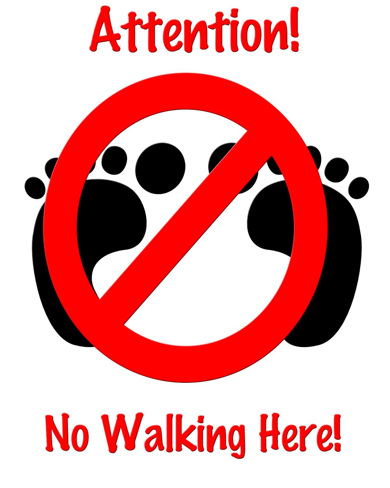 Walking Signs Worksheet