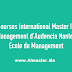 Bourses « International Master in Management » de Audencia Nantes Ecole de Management