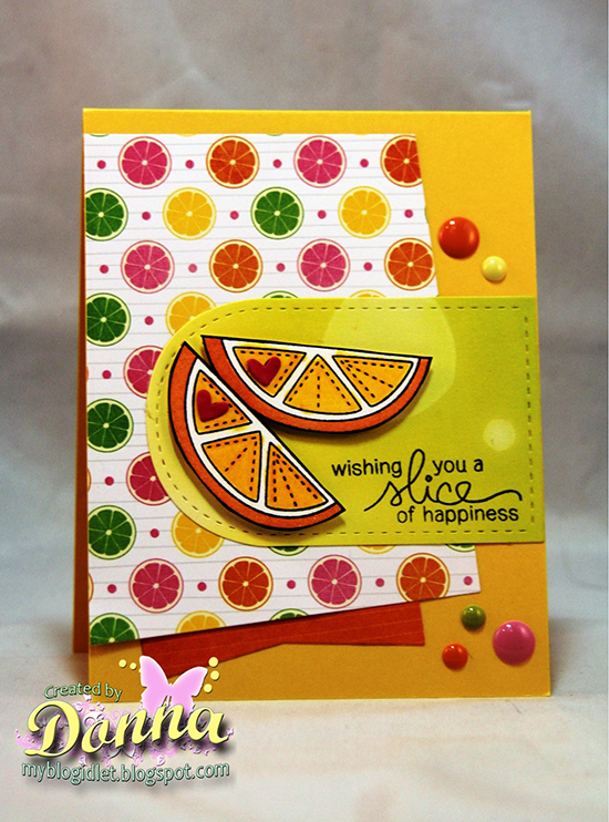 Pretty orange card by Donna Idlet for Newton's Nook Designs | Sweet Summer Stamp Set
