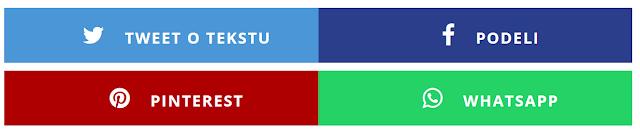 Izgled dugmića za deljenje sadržaja na blogu Fog Developer