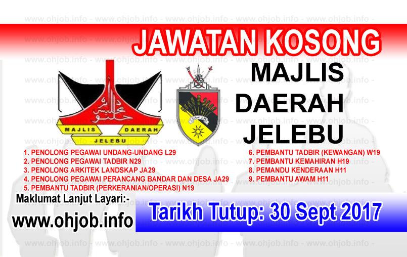 Jawatan Kerja Kosong Majlis Daerah Jelebu logo www.ohjob.info september 2017