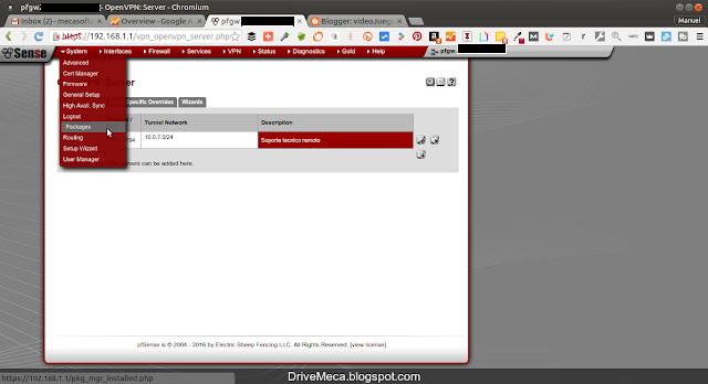 DriveMeca configurando OpenVPN en pfSense paso a paso