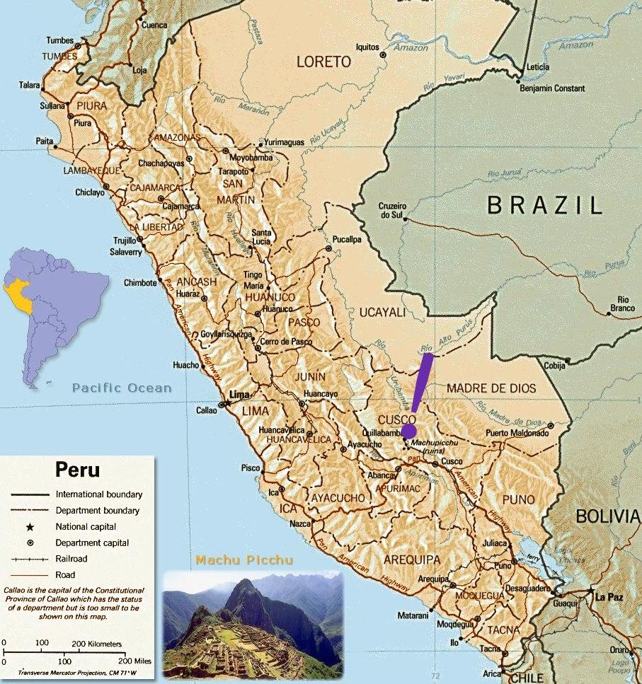 kart over inkariket Fakta om Cuzco. kart over inkariket