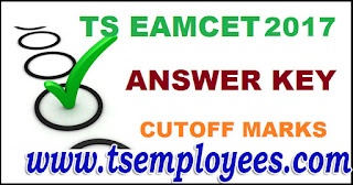 TS Eamcet Answer Key 2017 Set ABCD Solutions Cutoff marks @ eamcet.tsche.ac.in