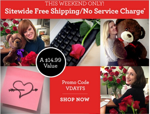 1800Flowers Valentine's Day Free Shipping Promo Code