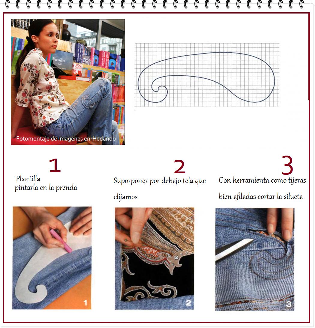 customizar, prendas, labores, rotos decorativos, costura, bricomoda