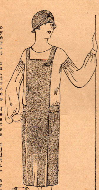 The Vintage Pattern Files: Free 1920's Sewing Pattern - The Popular New Jumper Dress
