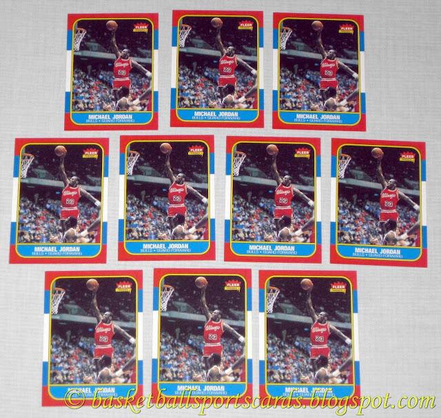 Michael Jordan 86 87 Fleer Rookie Card Reprint Err Fake
