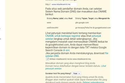 Cara Menghubungkan Atau Custom Domain Namecheap Ke Blogspot