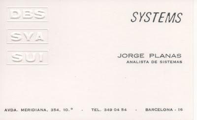 70's: DBS-SYA-SUI Systems Analista de sistemes