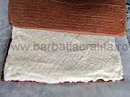 Prajitura cu cocos si ciocolata asamblare reteta - acoperim crema cu cealalta parte a blatului