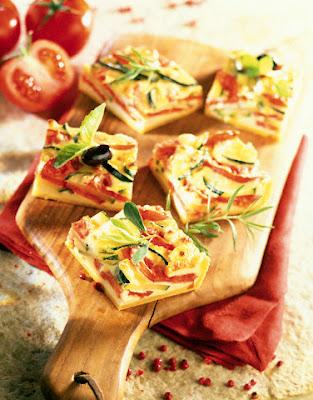 Quiché de zucchini y tomate