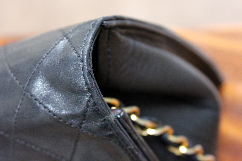 f2bcbadb5ef935 Verish Bags: Chanel Classic Medium Black Lambskin Vintage Shoulder Bag