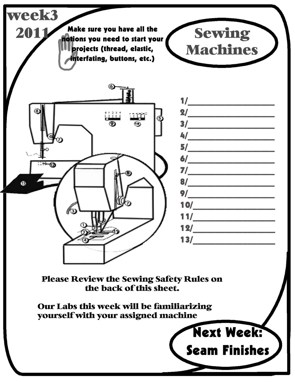 Sewing Machine Parts Diagram Worksheet Ford Falcon Stereo Wiring Pin On Pinterest