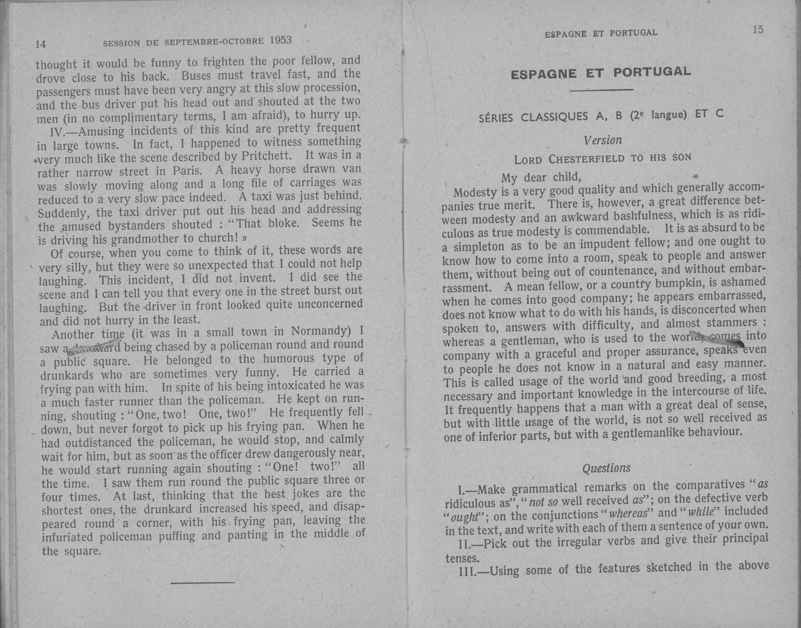 manuels anciens  divers  annales corrig u00e9es du baccalaur u00e9at d u0026 39 anglais  1954    grandes images