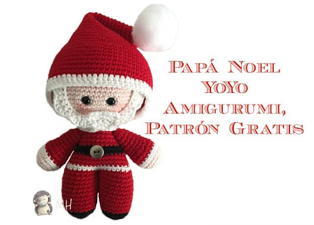 Papá Noel amigurumi