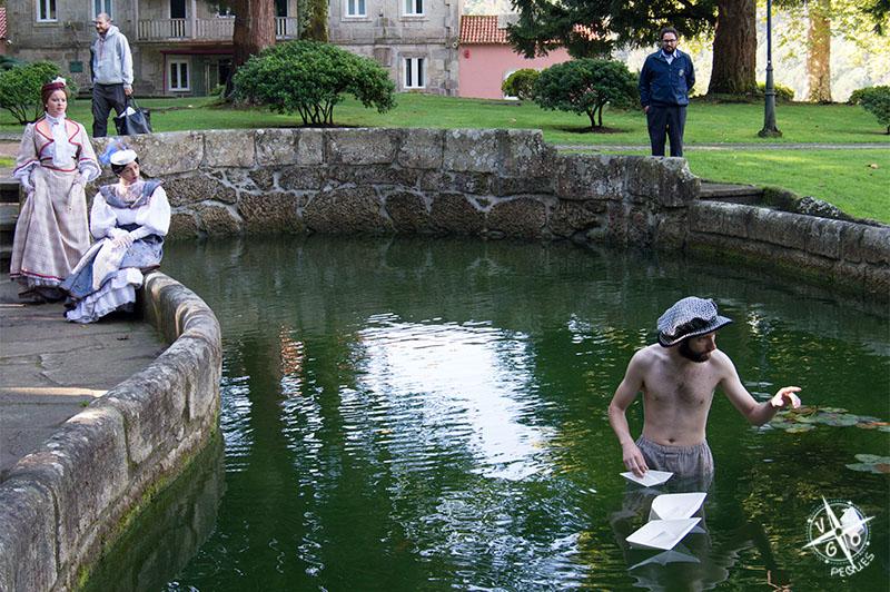 Visita teatralizada en el estanque del Castillo de Soutomaior