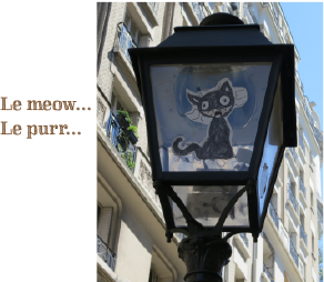 le meow... le purr... French cat graffiti art
