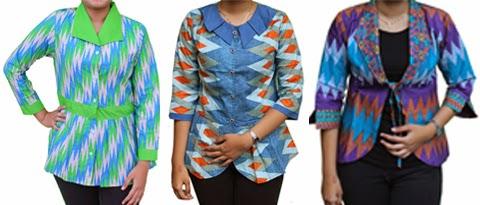 Model Baju Batik Atasan Wanita Gemuk Terbaru